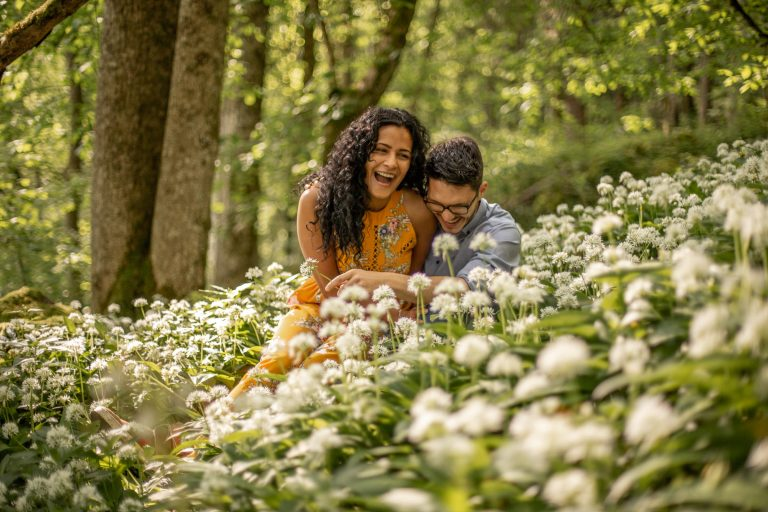special couple photos in the forest
